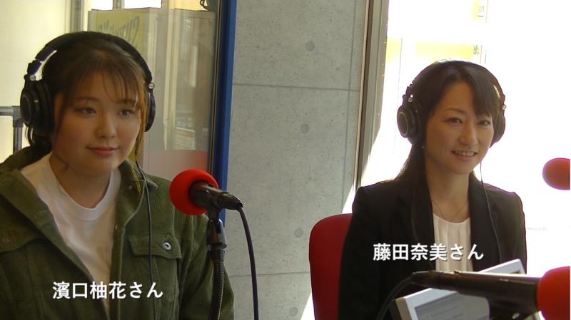 実際にヤクルトレディとして働く藤田奈美さんと濱口柚花さん