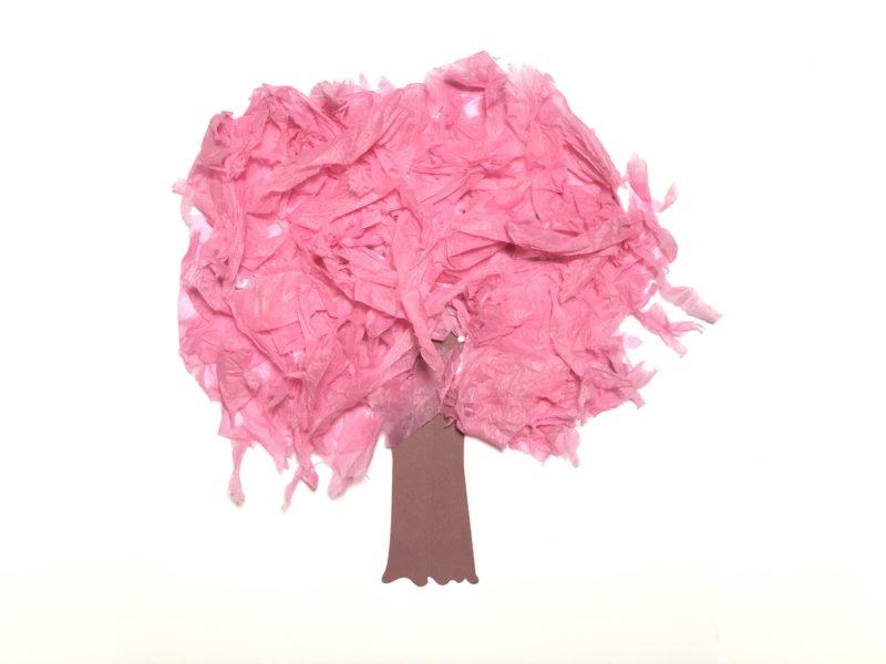 春の工作 桜の木