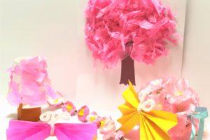 春の工作 桜の木 ちょうちょ