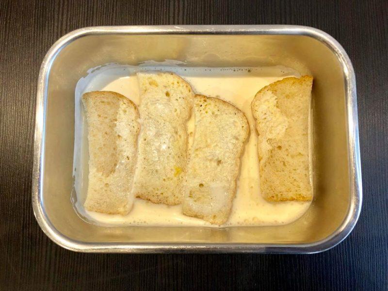 フレンチトースト液とパン