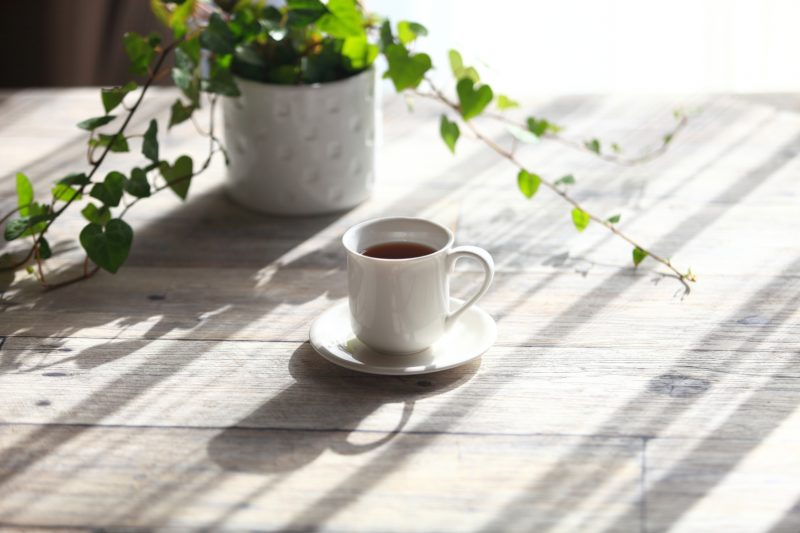 太陽の光とコーヒー