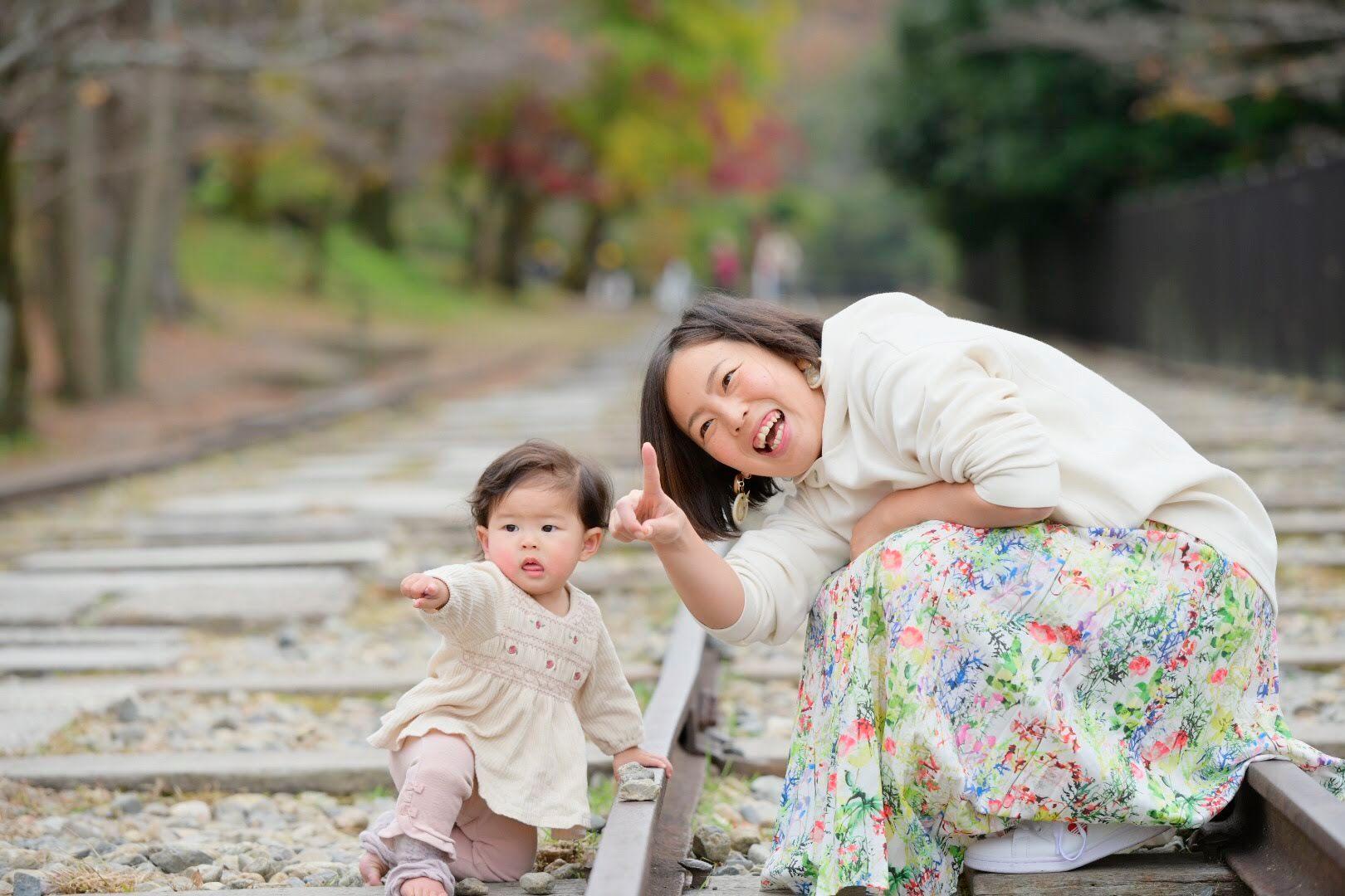 平井琴美さん親子