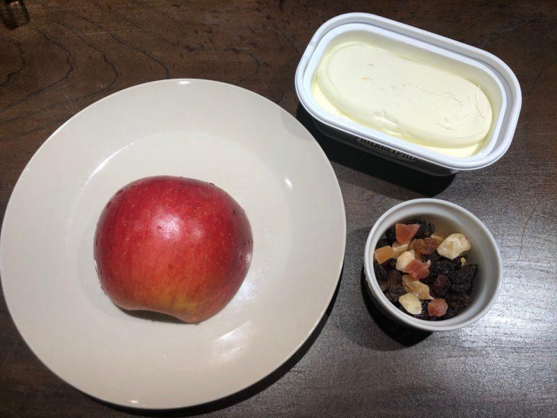りんご クリームチーズ ドライフルーツ