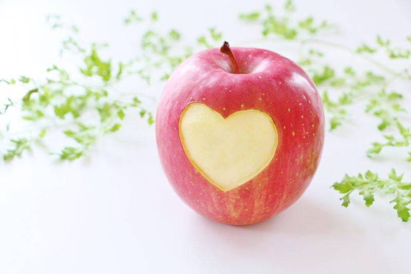 りんごとハート