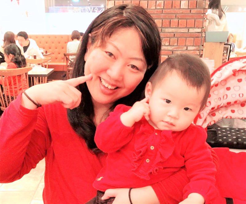 小川圭子さん親子