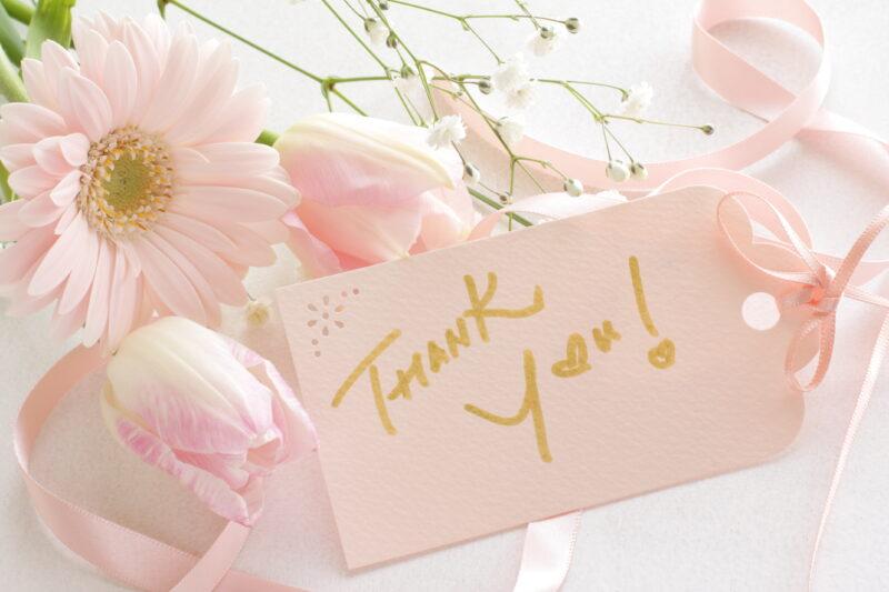 お花とありがとうカード